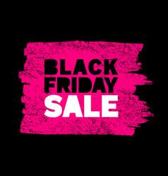 Black friday sale banner pink color background vector