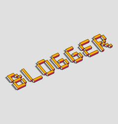 Blogger 3d background vector