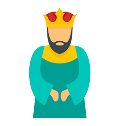 blue king icon flat style vector image