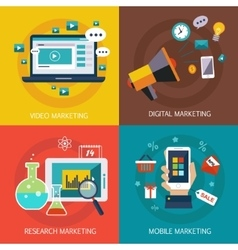 Business banners Internet mobile digital vector image