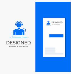 business logo for engineer headphones listen vector image