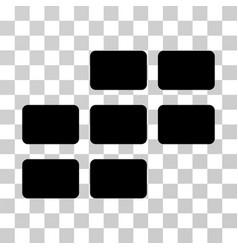 calendar grid icon vector image