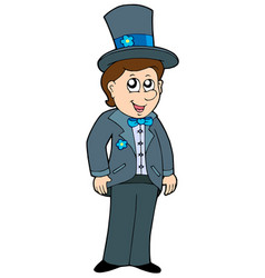 cartoon groom vector image