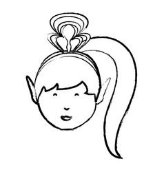 cartoon princess icon image vector image