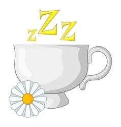 Chamomile tea icon cartoon style vector