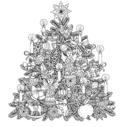 Christmas treeChristmas tree ornament vector