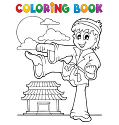 Coloring book sport and gym theme 2 vector