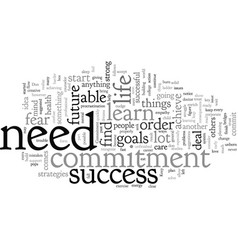 commitment and success strategies vector image