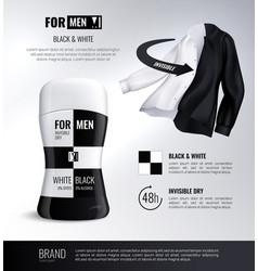 Deodorant bottle realistic composition vector