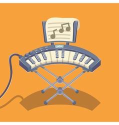 Electronic musical keyboard vector