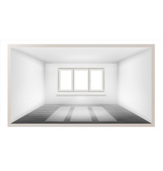 empty room empty wall sunlight falling vector image