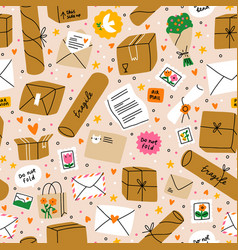 everything is packed and delivered on time vector image