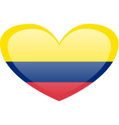 Flag of colombia accurate dimensions elements vector