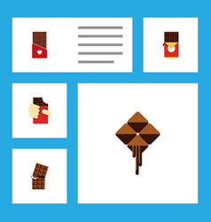 Flat icon chocolate set of shaped box chocolate vector