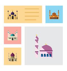 flat icon minaret set of mohammedanism mosque vector image