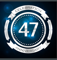 forty seven years anniversary celebration with vector image