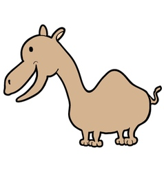 funny smile dromedary vector image
