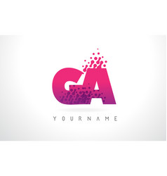 Ga g a letter logo with pink purple color vector
