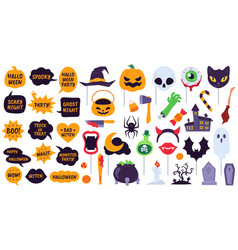 halloween props holiday accessories speech vector image