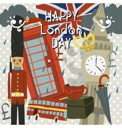 Happy London Day greeting card vector