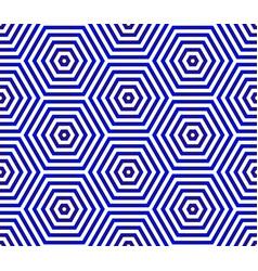 hexagon geometric pattern vector image