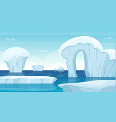 ice rocks background north pole landscape white vector image