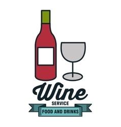 icon bottle wine design vector image