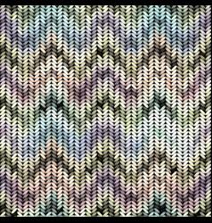 Imitation sweater knit melange effect vector