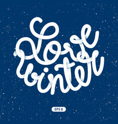 inscription love winter vector image