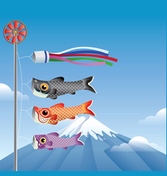 japans koinobori vector image