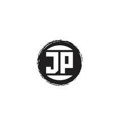 Jp logo initial letter monogram with abstract vector