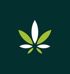 leaf marijuana creative naturally logo vector image