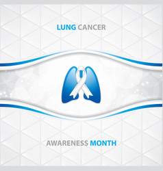 lung cancer vector image