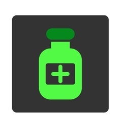 Medicine Container Flat Button vector image