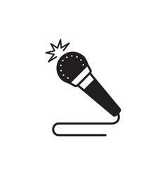 microphone icon multimedia speaker symbol vector image