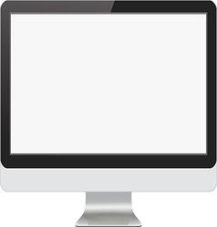 Modern Computer Monitor vector