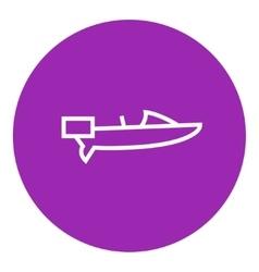 Motorboat line icon vector