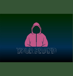 Mysterious man male with pink jacket logo design vector
