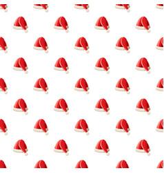New year santa claus hat pattern vector
