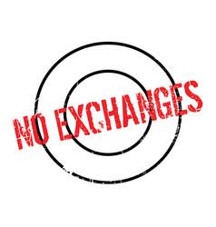 No exchanges rubber stamp vector