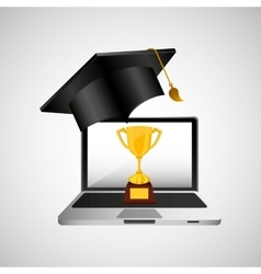 online education concept trophy award vector image