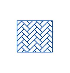 parquet line icon concept parquet flat vector image