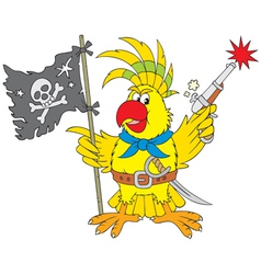 parrot pirate vector image