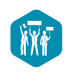 People group demonstration icon simple style vector
