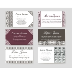 Personal cards with ethnic design vector