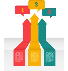 Perspective Layout Design of arrows and speech vector image