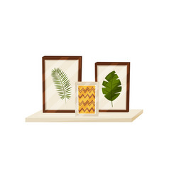 Picture and herbarium concept flat vector
