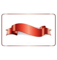 Red ribbon satin banner vector