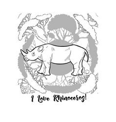 Rhinoceros print vector
