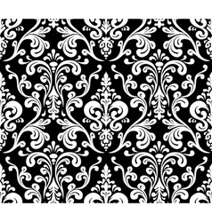 Seamless elegant damask pattern Black and white vector image vector image